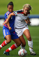 Olivia Klei (USA) and Ines Jaurena (FRA)..FIFA U17 Women's World Cup, USA v France, Albany Stadium, Auckland, New Zealand, Wednesday 5 November 2008. Photo: Renee McKay/PHOTOSPORT