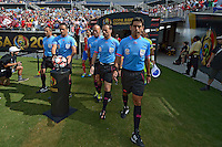 Action photo during the match Costa Rica vs Paraguay, Corresponding Group -A- America Cup Centenary 2016, at Citrus Bowl Stadium<br /> <br /> Foto de accion durante el partido Estados Unidos vs Colombia, Correspondiante al Grupo -A-  de la Copa America Centenario USA 2016 en el Estadio Citrus Bowl, en la foto: Arbitro Patricio Loustau<br /> <br /> <br /> 04/06/2016/MEXSPORT/Isaac Ortiz.