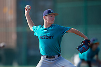 Nicholas Devine (63) of Bismarck, North Dakota during the Baseball Factory Pirate City Christmas Camp & Tournament on December 30, 2018 at Pirate City in Bradenton, Florida. (Mike Janes/Four Seam Images)