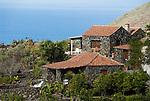 Spain, Canary Islands, La Palma, near Los Llanos de Aridane, Todoque: residential building, stone cottage