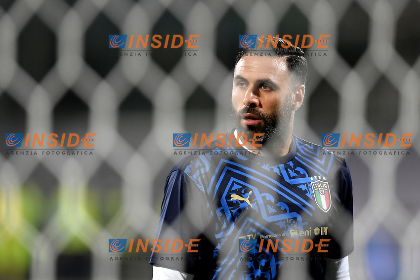 Salvatore Sirigu of Italy warms up prio to the friendly football match between Italy and Moldova at Artemio Franchi Stadium in Firenze (Italy), October, 7th 2020. Photo Andrea Staccioli/ Insidefoto
