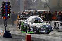 Jan 21, 2007; Las Vegas, NV, USA; NHRA Funny Car driver Kenny Bernstein launches during preseason testing at The Strip at Las Vegas Motor Speedway in Las Vegas, NV. Mandatory Credit: Mark J. Rebilas