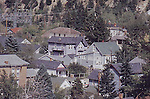 HOUSES NEAR HILLSIDE IN ALASKAN TOWN
