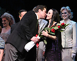 """Merwin Foard & Bebe Neuwirth.taking bows during the Broadway Opening Night Curtain Call for """"The Addams Family"""" at the Lunt-Fontanne Theatre in New York City..April 8, 2010.© Walter McBride"""