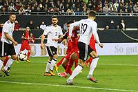 goal, Tor zum 1:0 für per Hacke von Leon Goretzka (Deutschland Germany) - 08.10.2017: Deutschland vs. Asabaidschan, WM-Qualifikation Spiel 10, Betzenberg Kaiserslautern