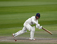 28th May 2021; Emirates Old Trafford, Manchester, Lancashire, England; County Championship Cricket, Lancashire versus Yorkshire, Day 2; Luke Wood of Lancashire plays the ball away to the on side