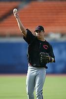 Ryan Wagner of the Cincinnati Reds during a 2003 season MLB game at Dodger Stadium in Los Angeles, California. (Larry Goren/Four Seam Images)