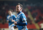 St Johnstone v Inverness Caley Thistle…03.12.16   McDiarmid Park..     SPFL<br />Danny Swanson celebrates his goal<br />Picture by Graeme Hart.<br />Copyright Perthshire Picture Agency<br />Tel: 01738 623350  Mobile: 07990 594431