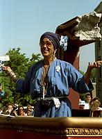 FILE - Francine Grimaldi a un defile de la Saint-Jean dans les annees 90<br /> <br /> (date inconnue ,  circa 1993)<br /> <br /> <br /> PHOTO  :  Agence Quebec Presse