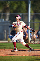 Boston College Eagles catcher Gian Martellini (2) at bat during a game against the Central Michigan Chippewas on March 3, 2017 at North Charlotte Regional Park in Port Charlotte, Florida.  Boston College defeated Central Michigan 5-4.  (Mike Janes/Four Seam Images)