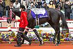 TAKARAZUKA,JAPAN-APR 4: Contrail (2020 triple crown winner) walks on the paddock before the Osaka Hai at Hanshin Racecourse on April 4,2021 in Takarazuka,Hyogo,Japan. Kaz Ishida/Eclipse Sportswire/CSM