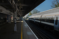 The deserted rail station at Sidcup, Kent during the Coronavirus (COVID-19) outbreak where travel has been restricted across the country at Sidcup, England on 25 March 2020. Photo by Alan Stanford/PRiME Media Images