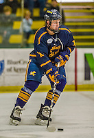 29 December 2013:  Canisius College Golden Griffins defenseman Ben Danford, a Senior from Stillwater, MN, in second period action against the University of Vermont Catamounts at Gutterson Fieldhouse in Burlington, Vermont. The Catamounts defeated the Golden Griffins 6-2 in the 2013 Sheraton/TD Bank Catamount Cup NCAA Hockey Tournament. Mandatory Credit: Ed Wolfstein Photo *** RAW (NEF) Image File Available ***
