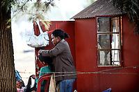 Maria, la parrucchiera del villaggio di Sun City a 200 metri dal Royal Bafokeng Stadium di Rustenburg.USA Ghana 1-2 - USA vs Ghana 1-2.Ottavi di finale - Round of 16 matches.Campionati del Mondo di Calcio Sudafrica 2010 - World Cup South Africa 2010.Royal Bafokeng Stadium, Rustenburg, 26 / 06 / 2010.© Giorgio Perottino / Insidefoto .