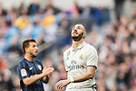 Karim Benzema of Real Madrid reacts during their La Liga 2016-17 match between Real Madrid and Malaga CF at the Estadio Santiago Bernabéu on 21 January 2017 in Madrid, Spain. Photo by Diego Gonzalez Souto / Power Sport Images