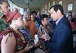 Florida Sen. Marco Rubio talks to people in the crowd following a campaign stop in Carson City, Nev. on Tuesday, Sept. 1, 2015. The Republican presidential hopeful is visiting several Northern Nevada towns this week. (Cathleen Allison/Las Vegas Review-Journal)