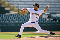 Bradenton Marauders pitcher Brayan Roman (23) during a game against the Daytona Tortugas on June 9, 2021 at LECOM Park in Bradenton, Florida.  (Mike Janes/Four Seam Images)