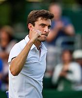 England, London, 25.06.2014. Tennis, Wimbledon, AELTC, Gilles Simon (FRA) wins second roundf<br /> Photo: Tennisimages/Henk Koster