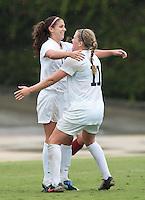 Alex Morgan and Katrin Omarsdottir  Cal Women's Soccer vs Washington State October 17th, 2010.