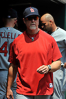 St. Louis Cardinals hitting coach Mark McGwire #25 during a game against the New York Mets at Citi Field on July 21, 2011 in Queens, NY.  Cardinals defeated Mets 6-2.  Tomasso DeRosa/Four Seam Images