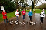 Eileen Murphy, Joan Lennihan, Ann Looney, Pauline Lyne and Mairead Courtney enjoying a stroll in Muckross Gardens on Saturday.