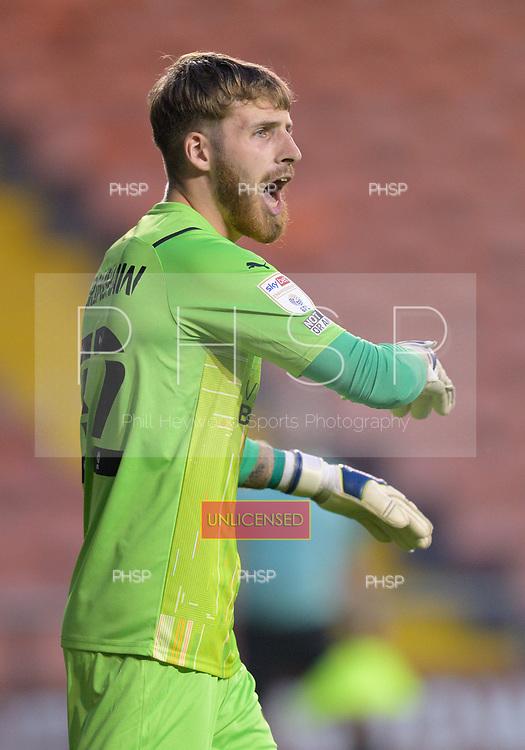 24/08/2021 Carabao Cup 2nd Round Blackpool v Sunderland <br />  <br /> Dan Grimshaw, Blackpool FC