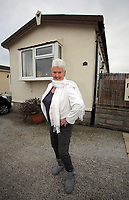 Pictured: Pat Stewart at her home in Llantwit Major. <br /> Re: 77 year old Pat Stewart (nee Wilson) who now lives near Llantwit Major in the Vale of Glamorgan, south Wales claims she is one of the two young ladies in an iconic image taken by photographer Bert Hardy at Blackpool Promenade in July 1951, alongside fellow Tiller girl Wendy Clarke. Stewart is alleging that another woman, Norma Edmondson who has been claiming that it is her in the picture, is a fraud.