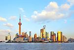 Skyline of Shanghai, China.