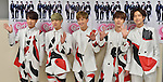 "Choshinsung, Supernova, May 09, 2015 : Member of Supernova, (L-R) Yoon-Hak, Sung-Mo, Kwang-Soo, Ji-Hyuk and Geo-Nil attend a press conference for their live tour ""Girlfriends"" at the Nippon Budokan on May 9, 2015. Tokyo, Japan."