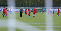 players of Woluwe  pictured during the warming up of  a female soccer game between FC Femina White Star Woluwe and AA Gent Ladies on the third matchday in the 2021 - 2022 season of Belgian Scooore Womens Super League , friday 3 th of September 2021  in Woluwe , Belgium . PHOTO SPORTPIX   SEVIL OKTEM