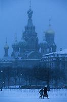 Europe-Asie/Russie/Saint-Petersbourg: Eglise Saint-Sauveur sur le sang versé