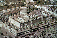 Italy: Rome--Model, Baths of Caracalla, begun AD 212, opened 216, completed after 222. 368 yards wide, 369 yards long. Photo '82.