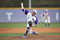 High Point Panthers relief pitcher Brady Pearre (2) delivers a pitch to the plate against the Campbell Camels at Williard Stadium on March 16, 2019 in  Winston-Salem, North Carolina. The Camels defeated the Panthers 13-8. (Brian Westerholt/Four Seam Images)