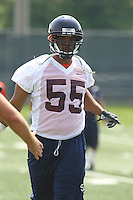 Virginia linebacker Jared Detrick during open spring practice for the Virginia Cavaliers football team August 7, 2009 at the University of Virginia in Charlottesville, VA. Photo/Andrew Shurtleff