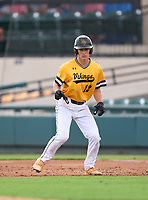 Bishop Verot Vikings outfielder Brady Loughren (12) during the 42nd Annual FACA All-Star Baseball Classic on June 6, 2021 at Joker Marchant Stadium in Lakeland, Florida.  (Mike Janes/Four Seam Images)