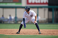 Detroit Tigers Ryan Kreidler (60) leads off during a Florida Instructional League game against the Pittsburgh Pirates on October 16, 2020 at Joker Marchant Stadium in Lakeland, Florida.  (Mike Janes/Four Seam Images)