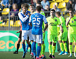 FK Trakai v St Johnstone…06.07.17… Europa League 1st Qualifying Round 2nd Leg, Vilnius, Lithuania.<br />Murray Davidson clashes with Justinas Janusdevskji<br />Picture by Graeme Hart.<br />Copyright Perthshire Picture Agency<br />Tel: 01738 623350  Mobile: 07990 594431