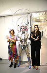 Anita Durst, Darrell Thorne and Leah Lane attends the ChaShaMa 'Open Studios' Opening Night Reception on October 12, 2018 at the Brooklyn Army Terminal in Brooklyn, New York.