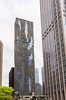 Usa, illinois,Chicago, Aqua skycraper designed by  Jeanne Gang