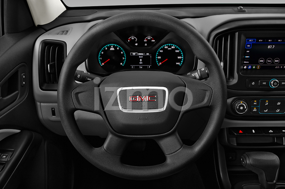Car pictures of steering wheel view of a 2021 GMC Canyon Elevation-Standard 4 Door Pick-up Steering Wheel