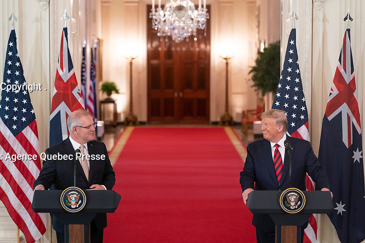 President Donald J. Trump and Australian Prime Minister Scott Morrison participate in a joint press availability Friday, Sept. 20, 2019, to the East Room of the White House. (Official White House Photo by Joyce N. Boghosian)