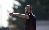 Tuffley Rovers manager Mark Pritchett during the UHLSport Hellenic Premier League match between Flackwell Heath v Tuffley Rovers at Wilks Park, Flackwell Heath, England on 20 April 2019. Photo by Andy Rowland.