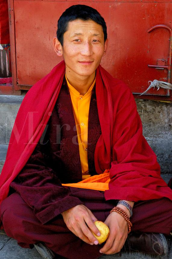 Young monk, Lhasa, Tibet.