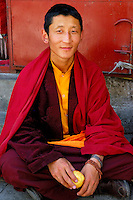 Young monk, Lhasa, Tibet.