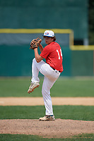 Pitcher Jack Crowder (14) during the Dominican Prospect League Elite Underclass International Series, powered by Baseball Factory, on August 2, 2017 at Silver Cross Field in Joliet, Illinois.  (Mike Janes/Four Seam Images)
