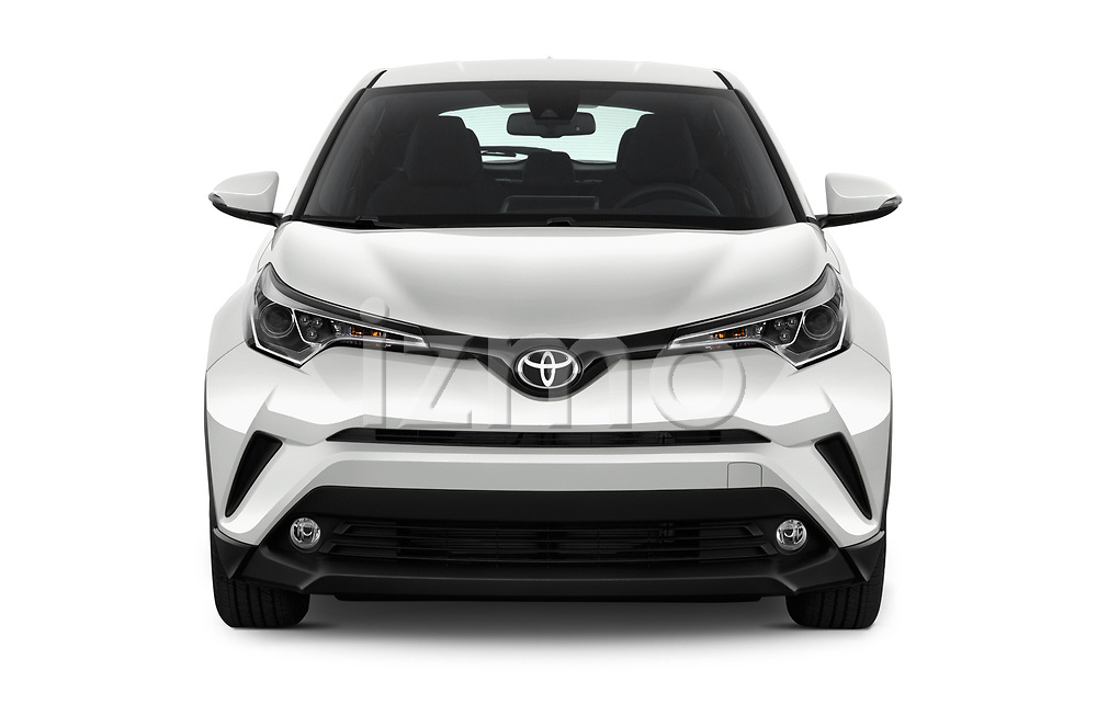 Car photography straight front view of a 2018 Toyota C-HR XLE-Premium 5 Door SUV Front View