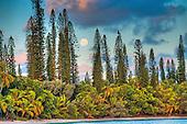 Lever de lune en baie de Kanumera