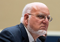 Dr. Robert Redfield, Director of the Centers for Disease Control and Prevention; testifies during a House Energy and Commerce Committee hearing on the Trump Administration's Response to the COVID-19 Pandemic, on Capitol Hill in Washington, DC on Tuesday, June 23, 2020. <br /> Credit: Kevin Dietsch / Pool via CNP/AdMedia