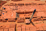 Pictured: The same brick factories pre-flooding.<br /> <br /> Hundreds of brick factories appear to have nearly disappeared under water following severe flooding.  The buildings were covered with water within three days of heavy rainfall after a nearby river breached its banks.<br /> <br /> Workers were able to save thousands of bricks - but many were lost to the 20 ft deep floodwater.  Photographer Azim Khan Ronnie pictured the flooded brick factories in Amin Bazar near his home in Dhaka, Bangladesh.  SEE OUR COPY FOR DETAILS.<br /> <br /> Please byline: Azim Khan Ronnie/Solent News<br /> <br /> © Azim Khan Ronnie/Solent News & Photo Agency<br /> UK +44 (0) 2380 458800