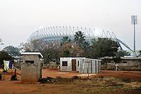 Le case del villaggio di Sun City a 200 metri dal Royal Bafokeng Stadium di Rustenburg.USA Ghana 1-2 - USA vs Ghana 1-2.Ottavi di finale - Round of 16 matches.Campionati del Mondo di Calcio Sudafrica 2010 - World Cup South Africa 2010.Royal Bafokeng Stadium, Rustenburg, 26 / 06 / 2010.© Giorgio Perottino / Insidefoto .